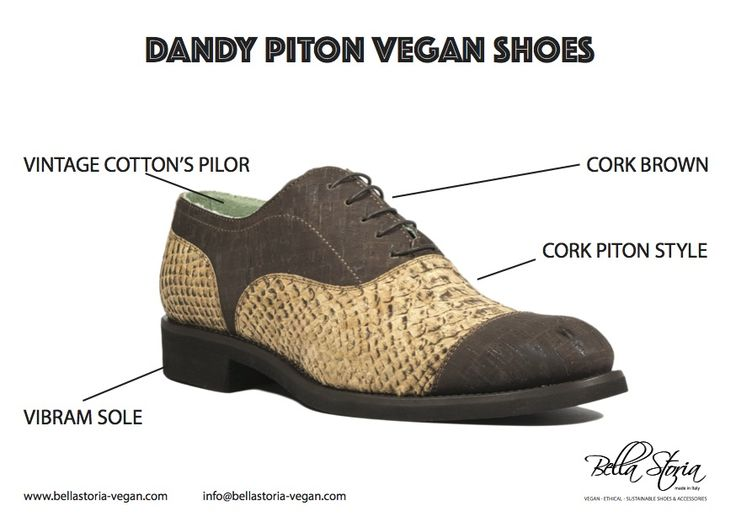 Dandy piton cork vegan shoes vibram sole very light very Dandy - brown cork
