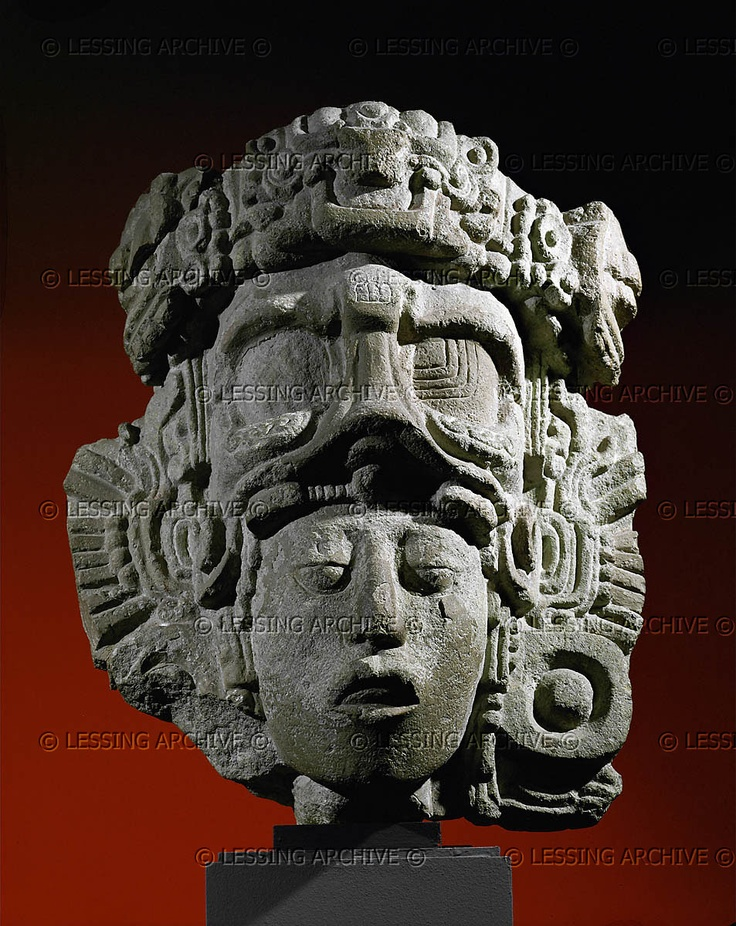 Maya Sculpture 7th Head Of A Prince Part Of A More Than