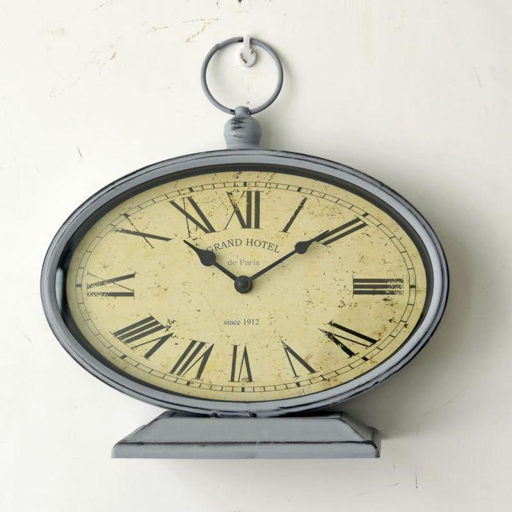 American Roman DIY Table Clock Vintage metal Cover electronic wall clock Home kitchen Wooden digital Hanging quartz clock reloj