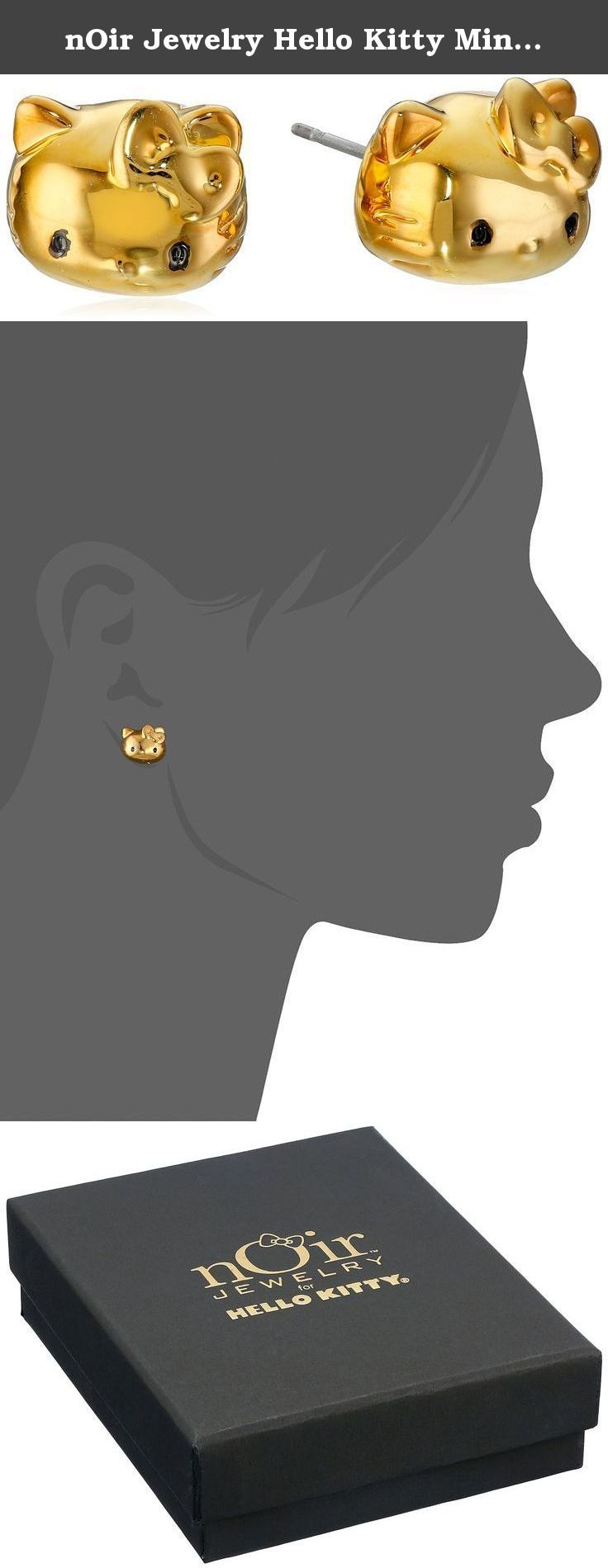 nOir Jewelry Hello Kitty Mini Face Stud Earrings. Made in China.