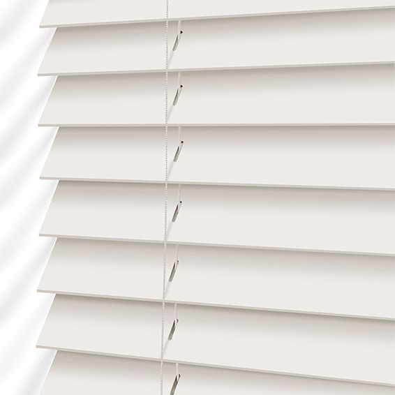 Soft White Wooden Blind - 35mm Slat from Blinds 2go