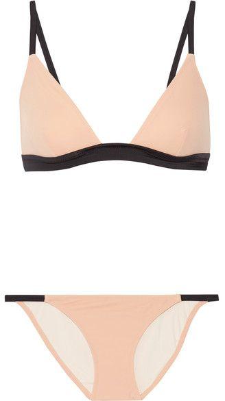 Solid and Striped - The Morgan Triangle Bikini - Beige
