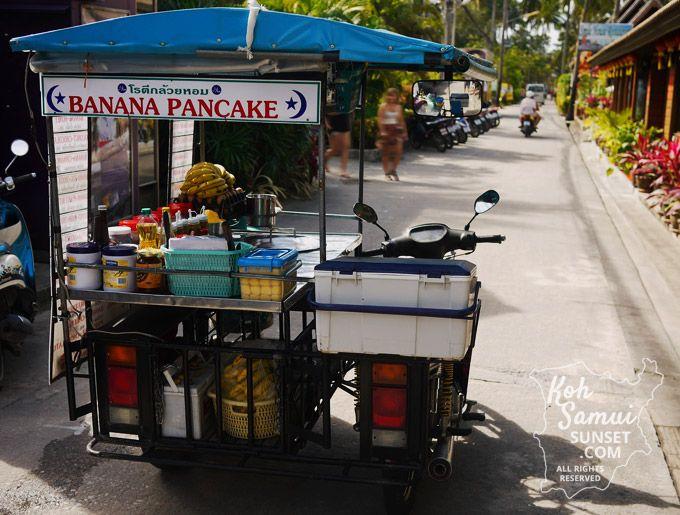 Banana pancakes in Fisherman's Village, Koh Samui // #Thailand #StreetFood