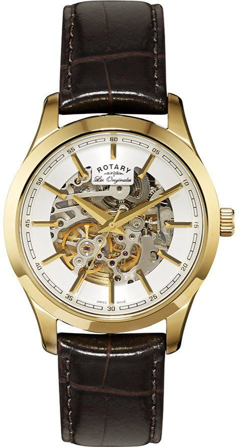 Rotary Watch Les Originales Gents #add-content #bezel-fixed #bracelet-strap-leather #brand-rotary #case-depth-13mm #case-material-yellow-gold #case-width-40mm #classic #delivery-timescale-1-2-weeks #dial-colour-white #gender-mens #movement-automatic #official-stockist-for-rotary-watches #packaging-rotary-watch-packaging #style-dress #subcat-les-originales #supplier-model-no-gs90526-06 #warranty-rotary-official-lifetime-guarantee #water-resistant-waterproof