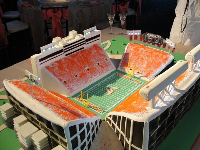 Lane Stadium cake. Awesome!