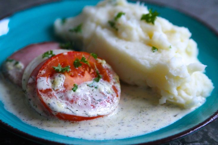 Falukorv med dillsås och potatispuré - Jennys matblogg