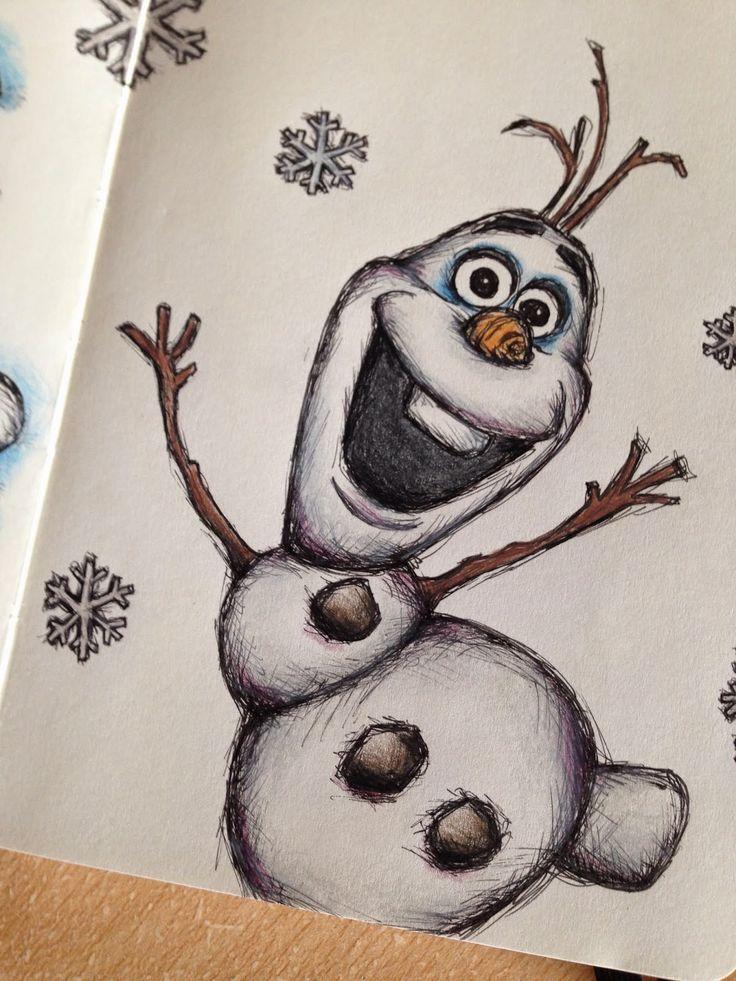 Best 25+ Olaf Drawing Ideas On Pinterest