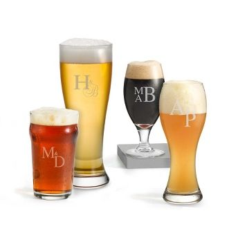 Personalized Craft Beer Set with Monogram , Add Your Message