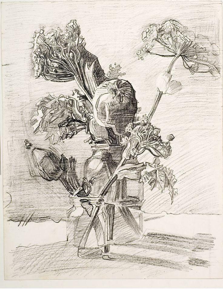 "A. Livanov. 1988.  Cow Parsnip  А. Ливанов, ""Борщевик"", б. стеклограф, 88г (из собрания Романа Бабичева)."