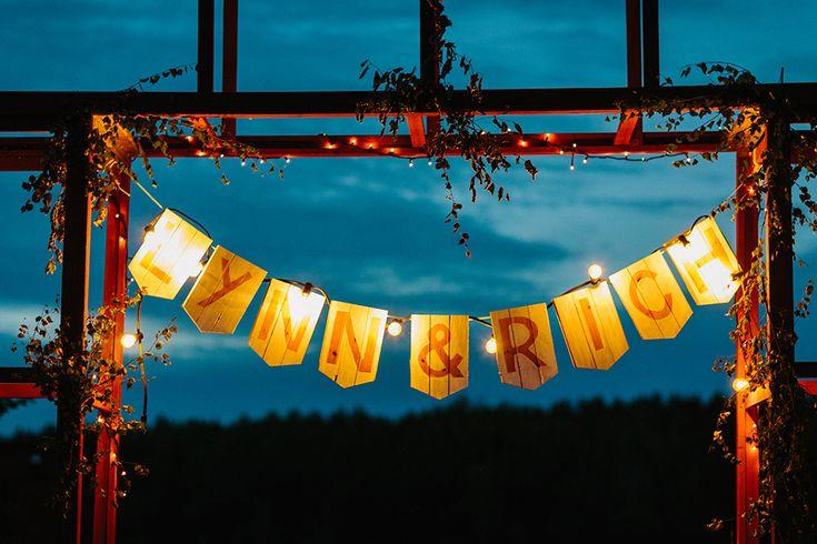 bröllop ljusslinga