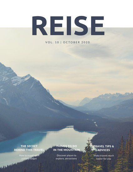 White and Darkblue Mountains Travel Magazine