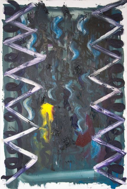 Stella Corkery: Untitled 96; oil on readymade canvas and stretcher, 610mm x 910mm
