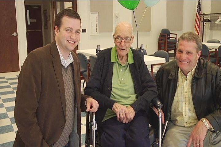 My grandpa! Lifelong Evansville man celebrates 105th birthday - 14 News, WFIE, Evansville, Henderson, Owensboro