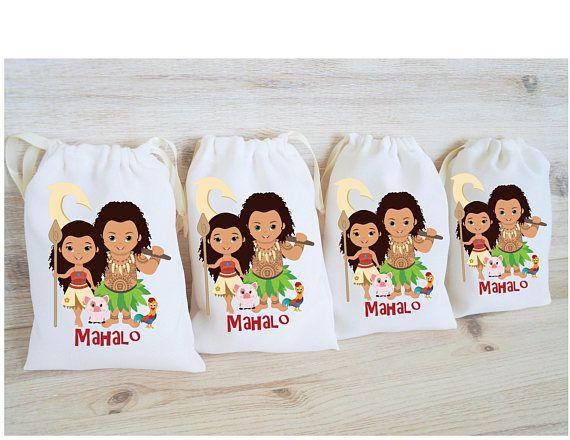 Moana Maui Favor Bags Hawaiian Party Favors Personalized Party