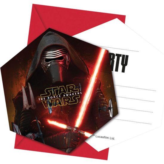 Star Warsfeestje uitnodigingskaarten