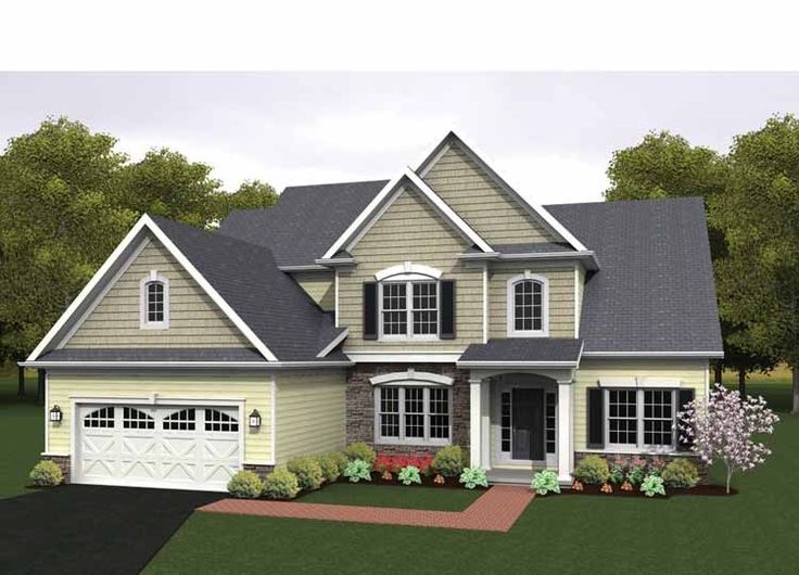 Eplans colonial house plan two story great room 2256 for Two story colonial house plans