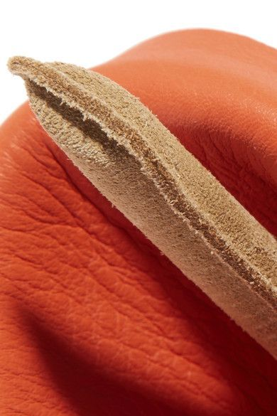 Loewe - Calla Gold-tone, Leather And Suede Bracelet - Orange - one size