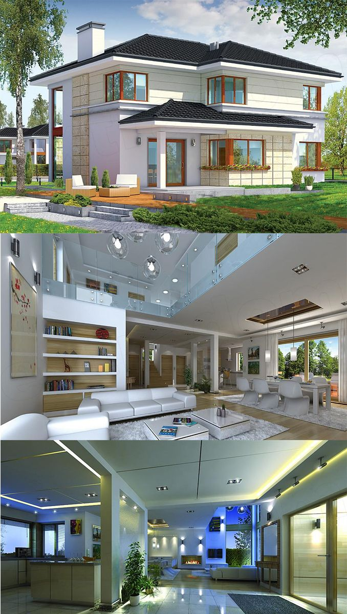 Two Story House Design With 2 Car Garage And Basement Two Story House Design Model House Plan House Design