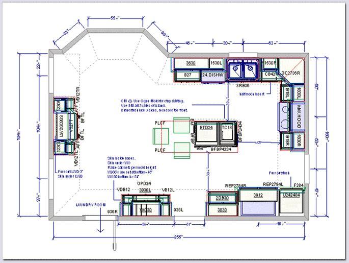 Original Floorplan inspiration  294 sq ft kitchen floorplan  Huge kitchen  floor plans. 9 best images about Kitchen Floor Plans on Pinterest   Le
