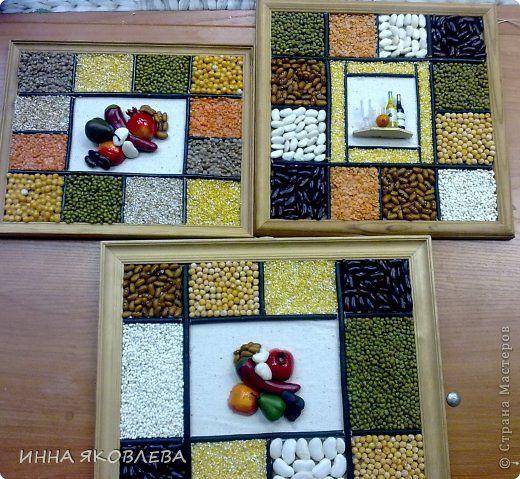 Декор предметов Картина панно рисунок Мастер-класс 8 марта Насыпание КРУПА Крупа фото 1