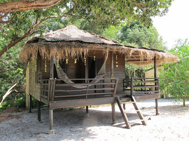 This will be my beach hut. <3 Beach bungalow, Koh Ta Kiev, Cambodia