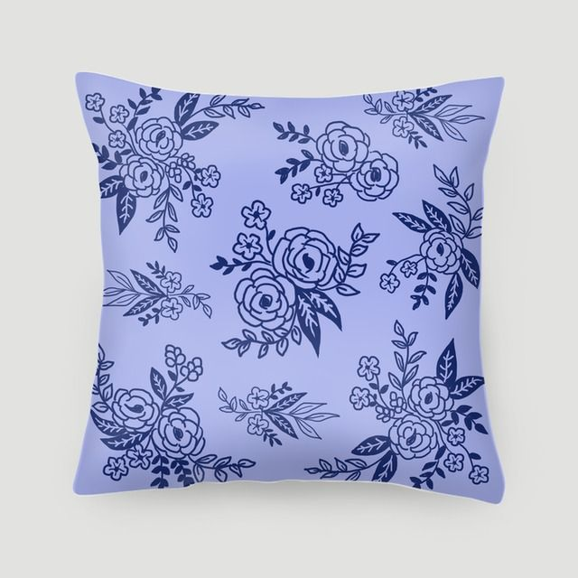 Pillow 40x40 cm (with insert) | Blue Flowers Pattern by Uniquez Art | Vintage flowers pattern, available in 3 colors #pillows #cushions #arts #prints #etsy #artwork #gift #design #home #decor #love #interior #trends #unique #photography #ideas #photo #inspiration #diy