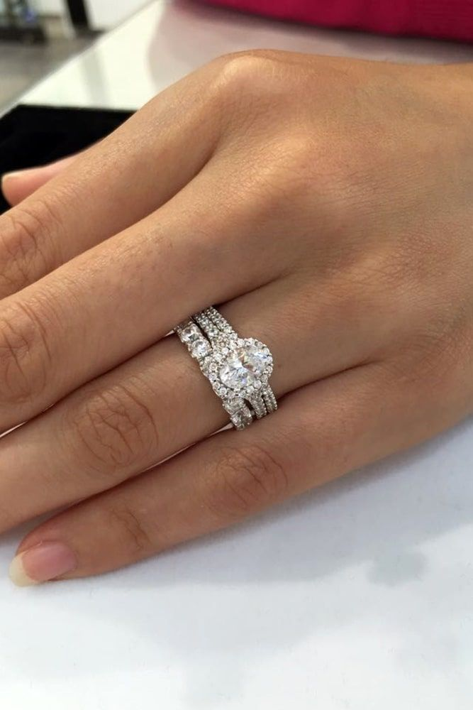 21 Excellent Wedding Ring Sets For Beautiful Women Wedding Ring Designs Wedding Ring Sets White Gold Wedding Ring Set