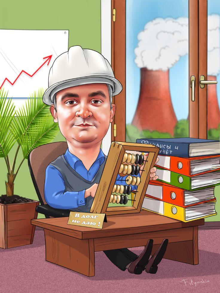 Карикатурная картинка строителя