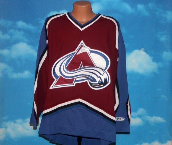 Colorado Avalanche Deadstock Ccm Nhl Hockey Jersey Xl Vintage 1990s By Nodemo