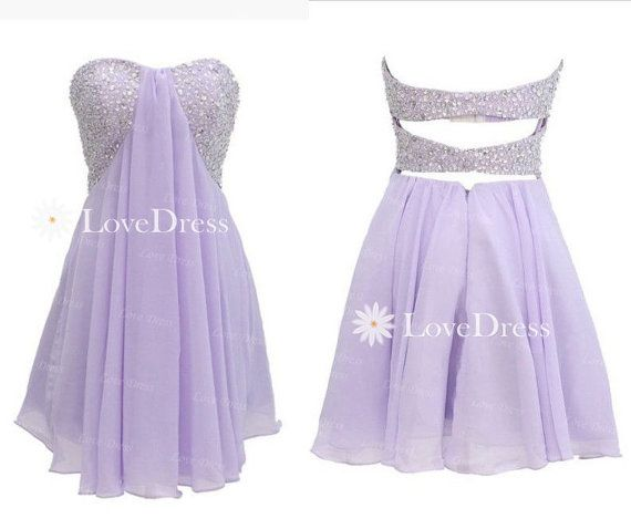 Purple Sequin Short Homecoming Dress, Prom Dress, Strapless Homecoming Dresses,Strapless Party Dress on Etsy, $138.99