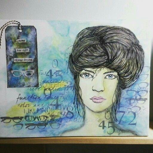 Canvas following creationsceecee video on Donna. Downey'  Artist gang.