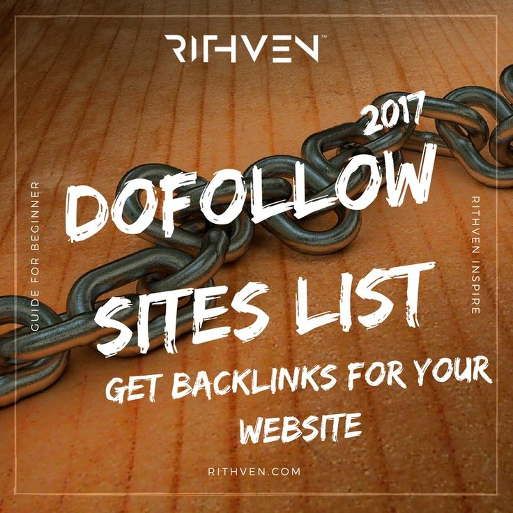 Great Dofollow Sites list 2017