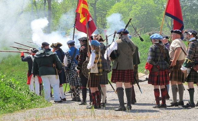 The Battle of Culloden from 1746 was re-enacted on Sunday inside the Old Fort in Fort Erie. The historic Scottish battle was the final confrontation of the 1745 Jacobite Rising. (Tony Ricciuto/Niagara Falls Review)