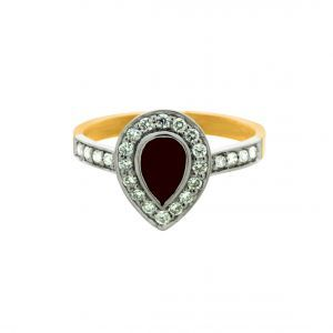 RINGS :: 18K 2T Ruby & Diamond, 26=.39ct GHSI Dias bead set - Shopping Cart Software & Ecommerce Software Solutions by CS-Cart
