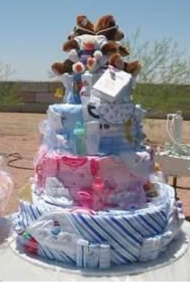 Baby diaper cake recipe
