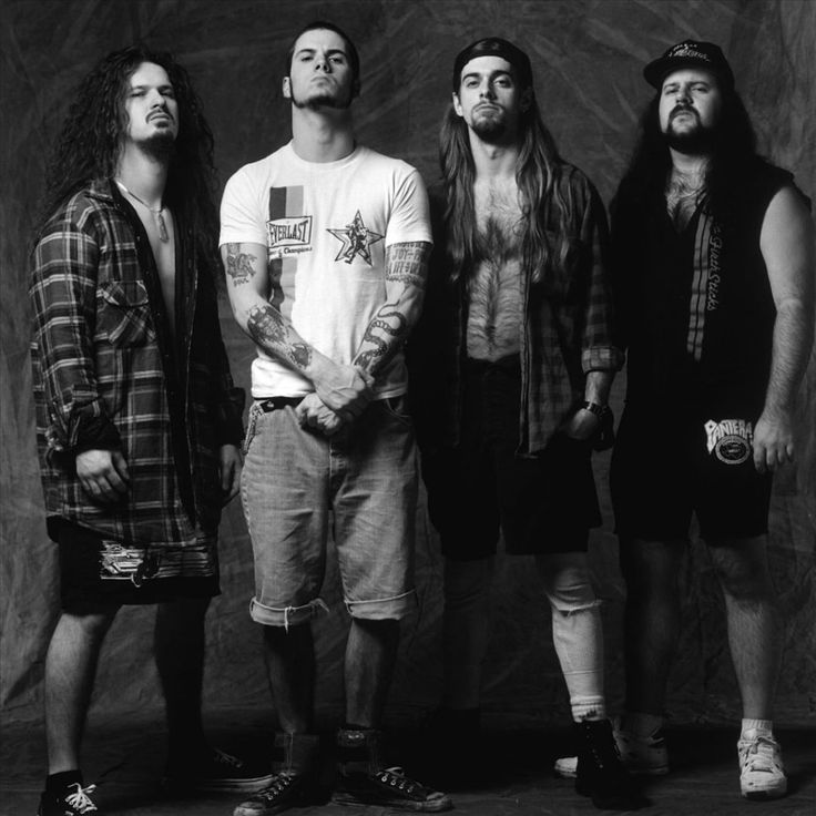 Pantera-Phil Anselmos signature growl, in which many have attempted to emulate but none could even come close, the crunchy guitar riffs and the monster double bass kicks on the drums, make this one of the best bands of thrash metal history, in my opinion. Love me some Pantera:)