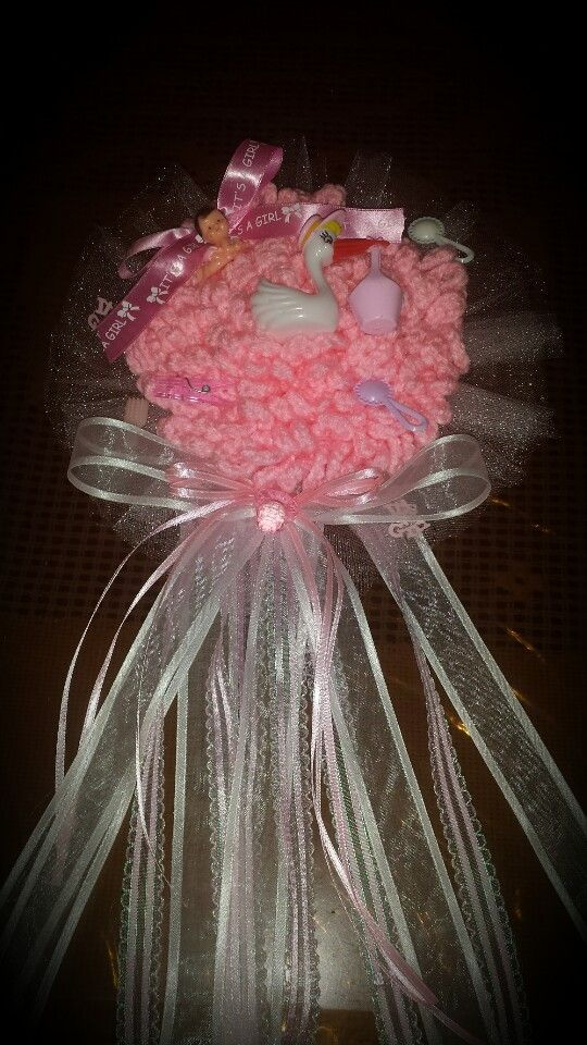 Corsage para baby shower .