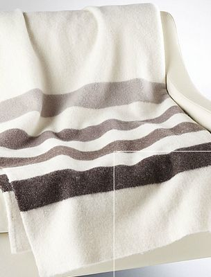 Grayscale Hudson's Bay blanket. One of the best versions ever. No clashy fisher price colour here! still classic.