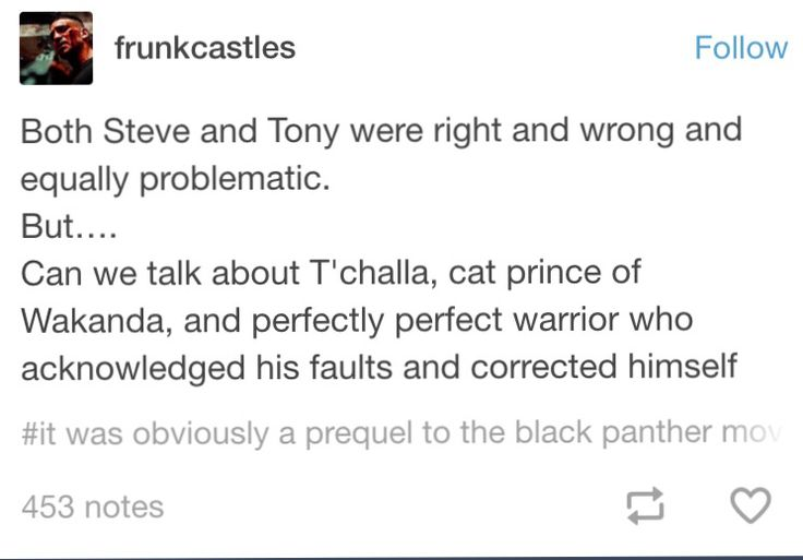 T'challa became the moral of the story, he was the meaning incarnate, and that's really clever writing I think.