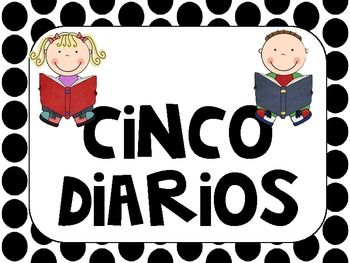 Cinco Diarios - Daily Five spanish wall signs