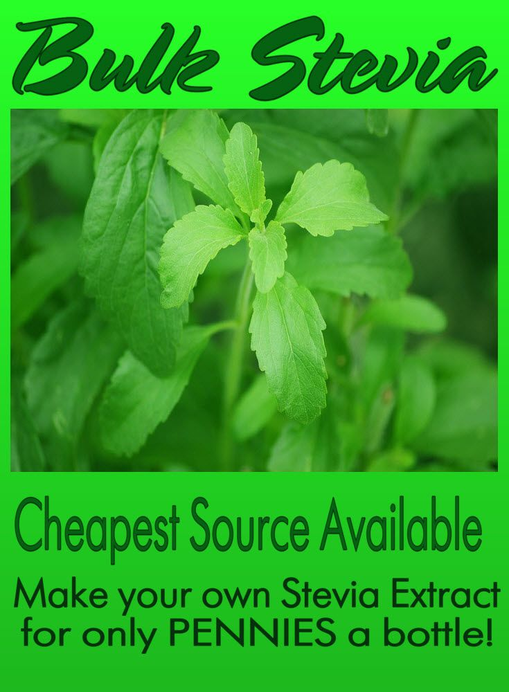 Bulk Stevia - Cheapest Source Available! - Make your own Stevia Liquid Extract for only pennies a bottle. The Sugar Free Zone