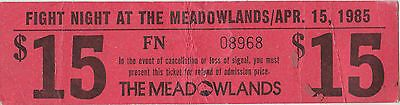 MEADOWLANDS GIANTS STADIUM FIGHT NIGHT VINTAGE TICKET APRIL 15, 1985