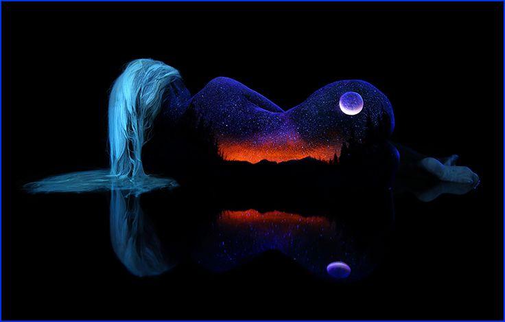 A beleza natural do corpo feminino indo de encontro à essencia da Mãe Natureza.