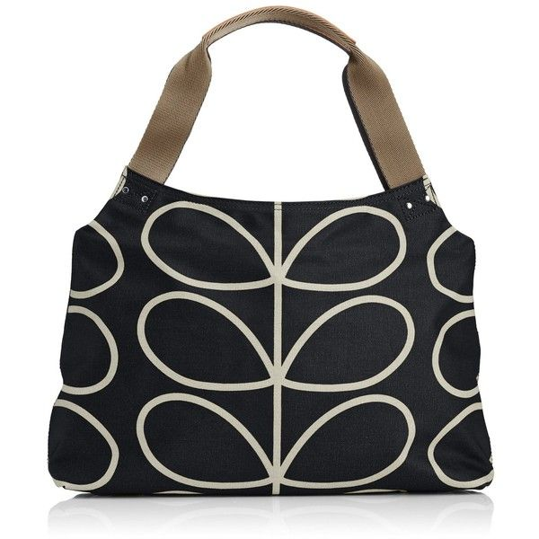 Orla Kiely Core Linear Classic Zip Shoulder Bag ($178) ❤ liked on Polyvore featuring bags, handbags, shoulder bags, print purse, orla kiely purse, pattern purse, zip purse und orla kiely handbags