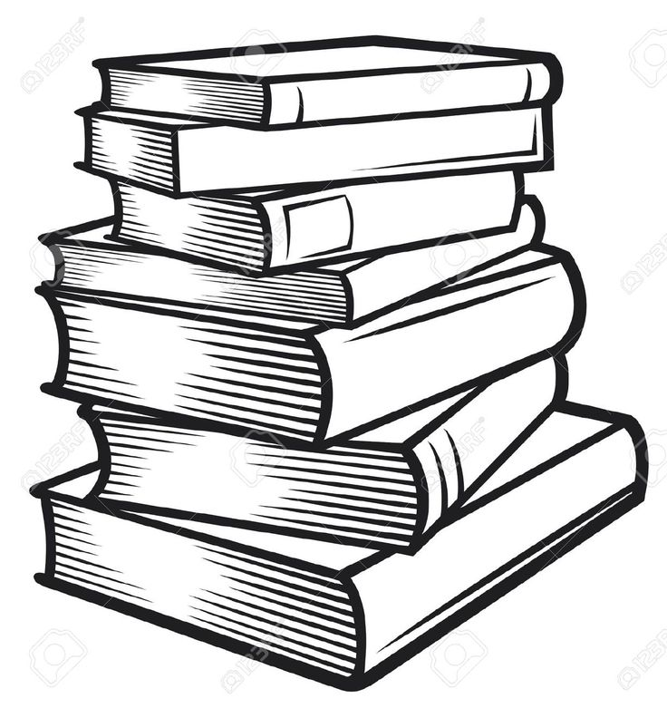 Stack of books clipart | картинка | Pinterest | Books, Journaling ...
