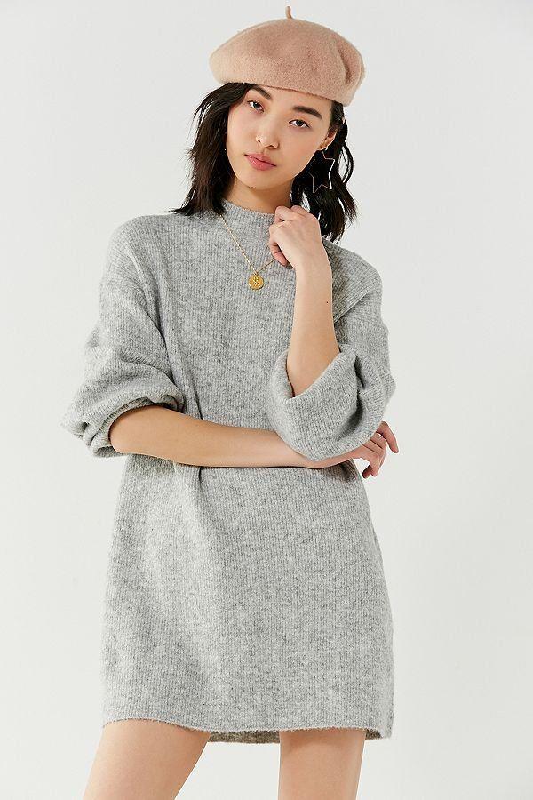 eea65eb288c Urban Outfitters Mock-Neck Sweater Dress