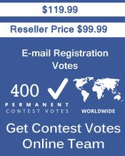 Buy 400 Email Registration Votes at $99.99 Votes from different USA IP Address Bulk Votes Available. Different Country IP address available. www.getcontestvot... #buyonlinevotes #buycontestvotes #buyfacebookvotes #getonlinevotes #getcontestvotes #buyvotesforonlinecontest #buyipvotes #getbulkvotes