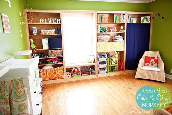 Floor to ceiling bookshelves w/ window - nice use of storage space.