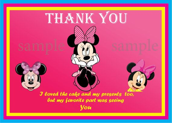 Mini Mouse thank you card - instant download ❀ You will receive 1 high resolution JPEG files ❀ Page Size:7 X 5 inch ❀ INSTANT DOWNLOAD (please check your spam mail) ❀You can print at home or upload to the photo lab of your choice! ❀This listing is for a digital file. NO printed