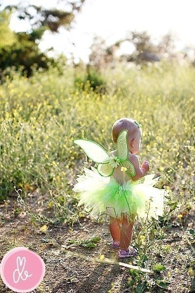 Newborn Baby Toddler Sizes Tutu Only Green Tinkerbell Style Halloween Costume Pixie Newborn up to 12 months, TUTU ONLY
